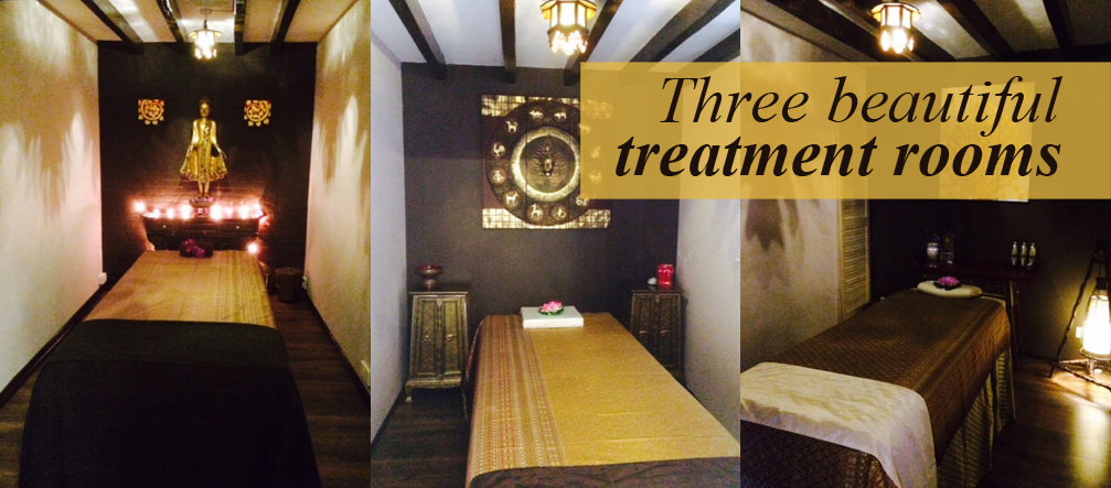 Three beautiful treatment rooms