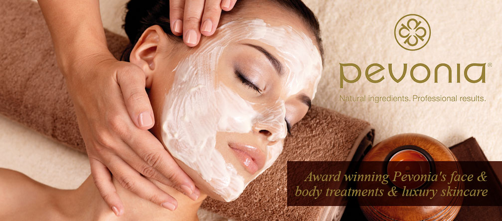Award winning Pevonia's face & body treatments luxury skincare